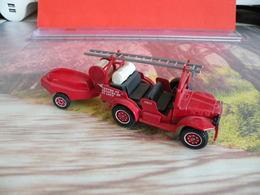 Véhicule De Pompier - St Loup (41) Dodge 4x4 Remorque Moto Pompe Guinard - 1/43 - SOLIDO FRANCE - N°61 - Pompiers
