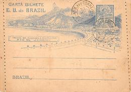 Brazil. Brésil.  Carta Bilhete.  Rio De Janeiro    Carte Lettre.non écrite A L Intérieur     (voir Scan) - Rio De Janeiro