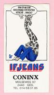 Sticker - IF JEANS - Coninx - Molseweg GEEL - Stickers