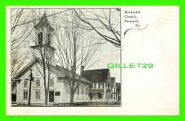 NEWPORT, VT - METHODIST CHURCH - TRAVEL IN 1909 - - Etats-Unis