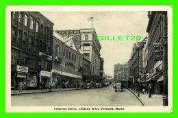 PORTLAND, ME - CONGRESS STREET, LOOKING WEST - ANIMATED - W. T. GRANT CO -  TRAVEL IN 1944 - PORTLAND NEWS CO - - Portland