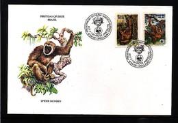 Brazil 1984 Monkeys WWF FDC - FDC