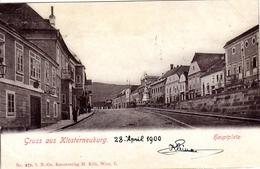 KLOSTERNEUBURG; Hauptplatz Kunstverlag Kölz Wien, 30.4.1900 - Tulln