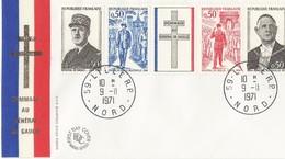 Lettre FDC  Général Degaulle 1971 L'Ille - 1990-1999