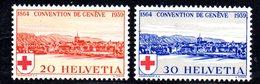 481/1500 - SVIZZERA 1939 , Unificato N. 342/343  ***  MNH.  Croce Rossa - Pro Patria
