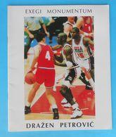 DRAZEN PETROVIC Exegi Monumentum  NBA New Jersey Brooklyn Nets Portland Trail Blazers Real Madrid Basketball Basket-ball - Libros