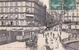 PARIS XI° Faubourg Du TEMPLE Animé FUNICULAIRE De BELLEVILLE  QUAI JEMMAPES Descente De La COURTILLE CAFE  Timbre 1908 - Distrito: 11
