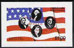 Eynhallow 1976 USA Bicentenary PERSONALITIES  AMERICANA  FLAGS KENNEDY LINCOLN SPACE USA-PRESIDENTS - Local Issues