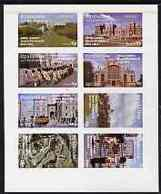 Eynhallow 1977 Silver Jubilee Imperf Set Of 8 Values (Scenes Around Windsor Castle) U/m ROYALTY MILITARIA - Local Issues