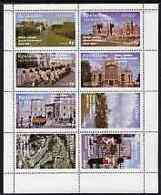 Eynhallow 1977 Silver Jubilee Perf Set Of 8 Values (Scenes Around Windsor Castle) U/m ROYALTY MILITARIA - Local Issues