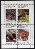 Eynhallow 1981 Animals #02 (Rat, Otter, Mole) Perf  Set Of 4 Values (10p To 75p) U/m RODENTS RATS OTTERS MOLES - Local Issues