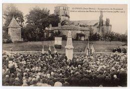 CLUSSAIS --29 Mai 1921--Inauguration Du Monument Aux Morts De La Grand Guerre ( Très Animée )............à Saisir - Champdeniers Saint Denis