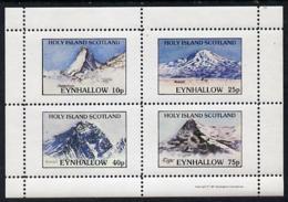 Eynhallow 1981 Mountains (Matterhorn, Ararat, Everest & Eiger) Perf  Set Of 4 Values (10p To 75p) Unmounted Mint - Local Issues