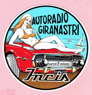 Sticker - Autoradio GIRANASTRI - Super 8 Radio - Incis - Stickers