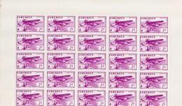 Feuilles De 25 Timbres De Poste Aériennne Neufs Sans Charnière Voir Le Scan - Camerun (1915-1959)
