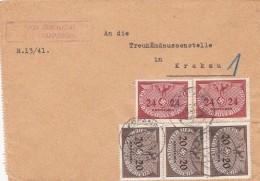 Deutsches Reich General Gouvernement Brief Dienst 1941 - Germany