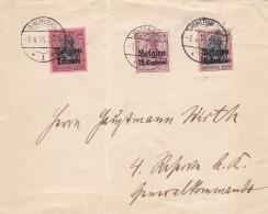 Deutsches Reich Landespost Belgien Brief 1915 - Germany