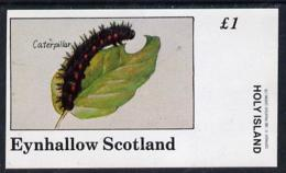 Eynhallow 1982 Insects (Caterpillar) Imperf Souvenir Sheet (�1 Value) Unmounted Mint - Local Issues
