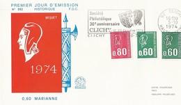 Lettre FDC Mariane De Béquet N°1814 1815 1816 - FDC