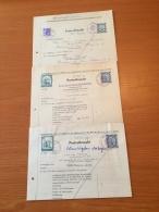 ++++ Kleine Sammlung 3 Postvollmachten 64-77 Österreich ++++ - Stamps