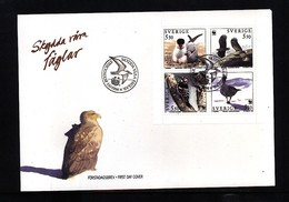 Sweden 1994 WWF Birds FDC - FDC