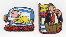 1988 - Lotto Due Figurine Formaggino Mio (Poldo E Pisellino)  - Vedi Foto - (MW1519) - Kinder & Diddl