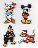Lotto Quattro Figurine Tipo Formaggino Mio (Paperina - Topolino - Pluto E Commissario Basettoni) - Vedi Foto - (MW1520) - Kinder & Diddl