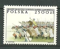 POLAND MNH **3292 HYMME NATIONAL DABROWSKI MAZURKA. BATAILLE DE RACLAWICE. ARTILLERIE RUSSE. TROUPE DE KOSCIUSZKO - 1944-.... République