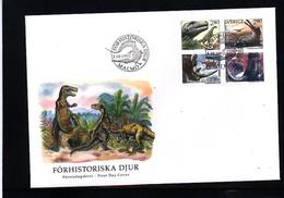 Sweden 1992 Dinosaurs FDC - Postzegels