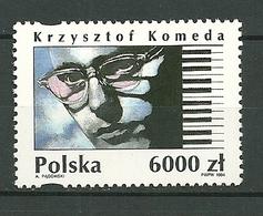 POLAND MNH ** 3301 Anniversaire De La Mort Du Pianiste De Jazz KRZYSZTOF KOMEDA TRZCINKI, Musique Musicien Piano - 1944-.... Republik