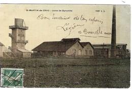 13 BOUCHES Du RHONE Usine De Dynamite De St MARTIN De CRAU Carte Texturée Aspect Toilé - Sonstige Gemeinden