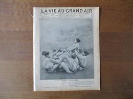 LA VIE AU GRAND AIR N°323 17 NOVEMBRE 1904 LES JEUX AU REGIMENT,LA COURSE DE FIACRES,CHASSE AU BLAIREAU,BICYCLETTES CEUX - Books, Magazines, Comics