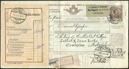Italy 1911 Stationery Parcel Card Bulletin D'expédition Colis Paketkarte Revenue Customs Zollamt >Austria Galicia Poland - Colis-postaux