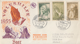 Enveloppe  FDC  1er  Jour  SARRE   Secours  Populaire   1955 - FDC