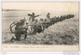 MILITARIA LA GUERRE    Compagnie Cycliste En Action - Guerre 1914-18