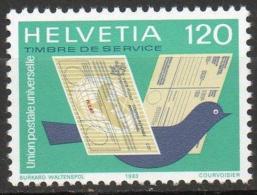 Switserland, Helvetia 1983 UPU-Union Postale Universelle Mi.14, Yvert S462 Postfrisch/MNH/** LUXE - Servizio