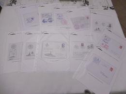 Collection 60 Marques Navales De Frégates ( Tréville,vendemiaire,leygues,montcalm,prairial,...)+qques Fdc Offerts - Postmark Collection (Covers)