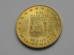 1 Euro De L'ile De SAINT MARTIN  Mars 1996 - Caraîbes Francaises   ***** EN ACHAT IMMEDIAT **** - Euros Of The Cities