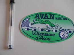 Autocollant - Ville - VILLENEUVE D'ASCQ - Natation - Stickers