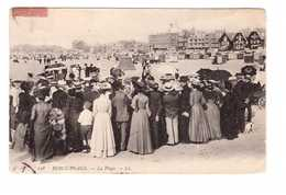 62 Berck Plage La Plage Cpa Animée Cachet Berck 1906 - Berck