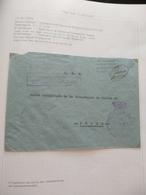 INTENDENCIA DE MARINA DE BALEARES CENSURA MILITAR  BASE NAVAL DE MALLORCA Guerra Civil Española ESPAÑA - 1931-50 Lettres