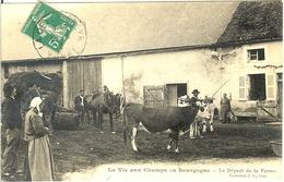 89 LA VIE AUX CHAMPS EN BOURGOGNE POSTEE DE LA CELLE ST CYR LE DEPART DE LA FERME - Other Municipalities