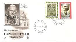 VATICANO - 1978 Celebrazione Inizio Pontificato Di Pope Papa GIOVANNI PAOLO II Su Busta Speciale - Papas