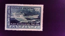 Argentine Argentina 1951 Transatlantique Bateau Animal Baleine Transatlantic Boat Whale Yvert 514 * MH - Argentina