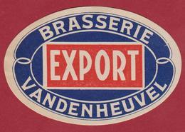 Bier Brouwerij Oud Etiket Brasserie Beer Etiquette De Biere EXPORT Vandenheuvel - Bière