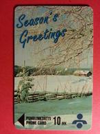 FINLAND Snowy Beauty Recto Season's Greetings - Lot 0074 - 1500ex - Exp 12/96 - FINLANDE (CB1217) - Finlande