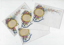 Ancien-lot 4 Cartes Postales Pour Correspondance Avec Insertion Photo-jamais Servi- Motifs Fleurs-Tb état - Supplies And Equipment