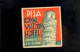 Etiquette D'hotels : PISA ROYAL VICTORIA HOTEL Grand Hotel & De Londres Bagage Sticker Luggage Tag - Hotel Labels