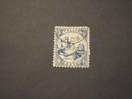 LIBERIA - 1864/9 STATUA LIBERTA'  12 C.(angolo Smussato) - TIMBRATO/USED - Liberia