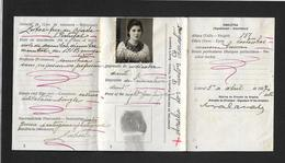 1937 BILHETE De IDENTIDADE Mulher. Portugal Identity Card Woman Document. CARTE D'IDENTITE Femme - Documents Historiques